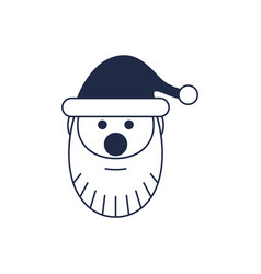 Santa claus head isolated icon vector