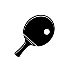 Simple table tennis icon vector