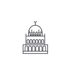 small mosque line icon sign vector image vector image