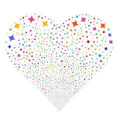 sparcle star fireworks heart vector image vector image
