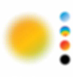 spotted gradient flash vector image