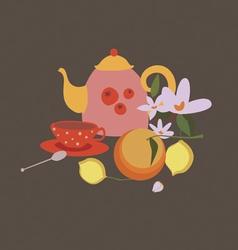 tea still life vector image