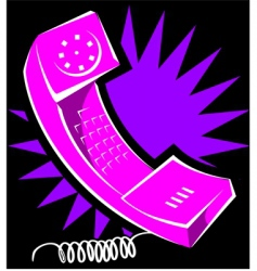 telephone vector image vector image