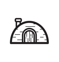 Thin line igloo icon vector