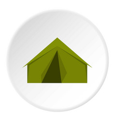 Tourist or a military tent icon circle vector