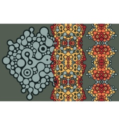 Two vertical seamless patterns vector image vector image