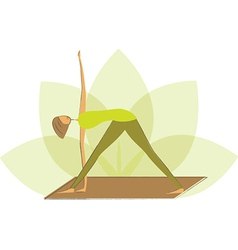 Woman in triangle pose vector