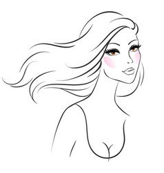 woman line vector image vector image