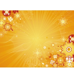 yellow background with flowers vector image
