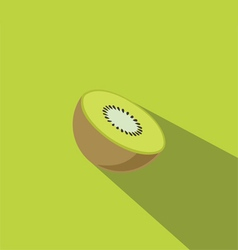 Kiwi fruit flat design vector