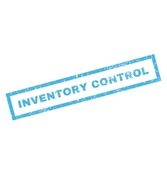 Inventory control rubber stamp vector