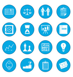 Business office icon blue vector