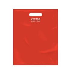 Plastic bag template vector