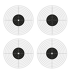 Set of shooting targets blank pistol template for vector