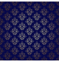 Dark blue seamless background with gold gradient vector