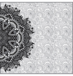 Circle grey lace ornament round ornamental vector image