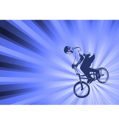 Bmx cyclist on the abstract background vector