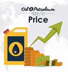 Oil and petroleum prices vector