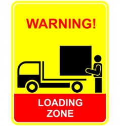 loading zone vector image