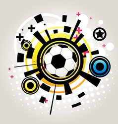 Abstract football vector image