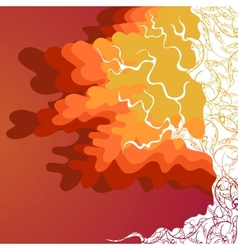 Autumn tree with orange and red leaves vector image