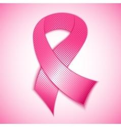 Breast cancer awareness pink ribbon vector image vector image