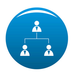 business structure icon blue vector image