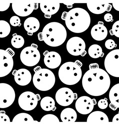 Cartoon skull seamless pattern vector image