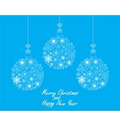 Christmas ball blue vector