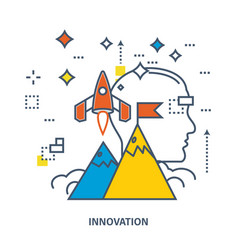 concept of start up business and innovation vector image