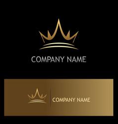 crown gold company logo vector image