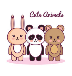 Cute animals design vector