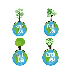 Earth day vector image vector image