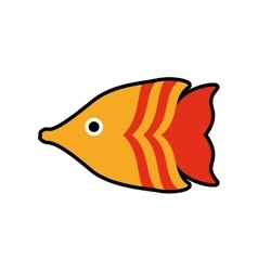 fish sea life marine aquatic swim icon vector image vector image