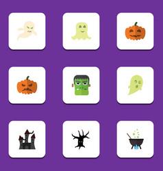 flat icon festival set of magic spirit monster vector image vector image