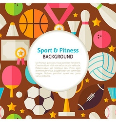 Flat sport and fitness pattern background vector