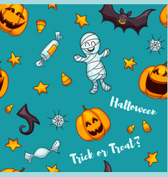 halloween seamless pattern one of big vector image vector image