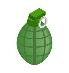 Hand grenade isometric 3d icon vector