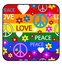 Hippie button vector
