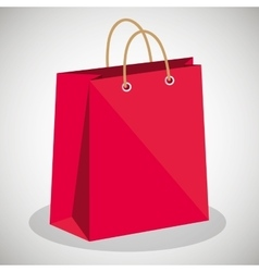 icon bag shop red paper design vector image vector image