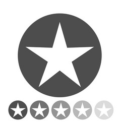 isolated gray star icon ranking mark vector image