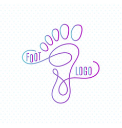 Logo of center of healthy feet human footprint vector