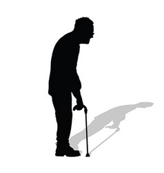 Man old in black color on white background vector