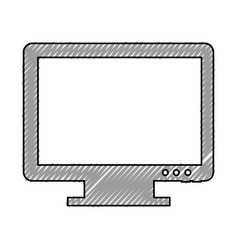 monitor computer desktop isolated icon vector image