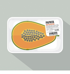 Papaya pack vector