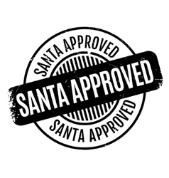Santa approved rubber stamp vector