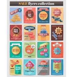 Set of colorful sale flyers best creative design vector