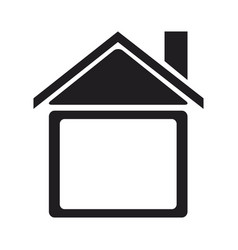 Silhouette house home construction structure icon vector