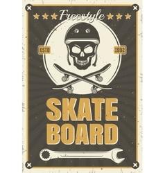 Skateboard Vintage Poster vector image vector image