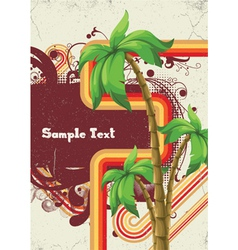 Summer with detailed palm tree vector